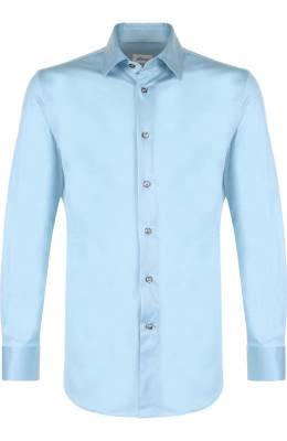 Хлопковая рубашка с воротником кент Brioni UJ5Z13/PZ600