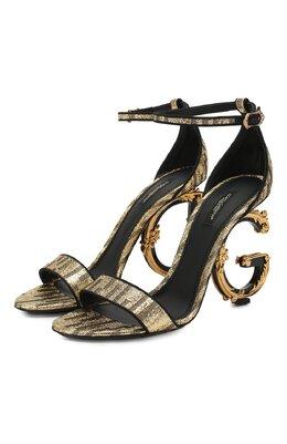 Текстильные босоножки Keira Dolce&Gabbana CR0739/AJ707