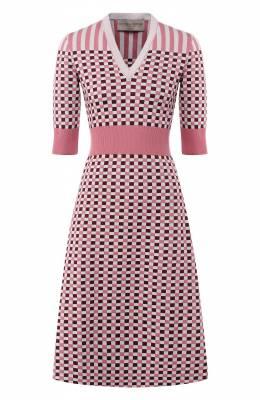 Платье из смеси шерсти и шелка Bottega Veneta 546098/VEYN0