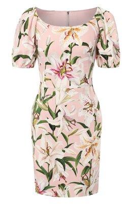 Платье из вискозы Dolce&Gabbana F6F3MT/FSRLJ