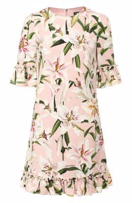 Платье с принтом Dolce&Gabbana F6E3GT/FSRLJ