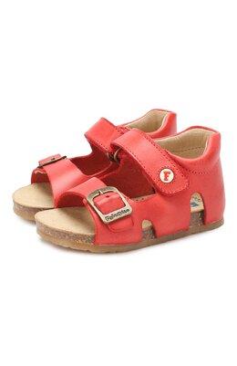 Кожаные сандалии с застежкой велькро Falcotto 0011500737/01