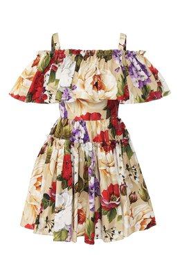 Хлопковое платье Dolce&Gabbana F63X7T/HS5GA