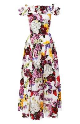 Хлопковое платье Dolce&Gabbana F6804T/GDL71