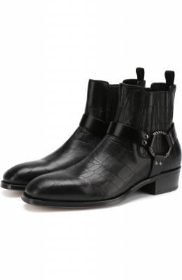 Кожаные сапоги Alexander McQueen 526263/WHT41