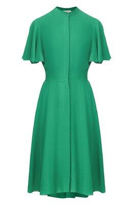 Шелковое платье Alexander McQueen 605280/QBAAF