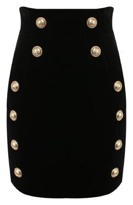 Хлопковая юбка Balmain SF14056/155C