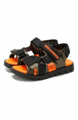 Кожаные сандалии Dsquared2 63507/18-27