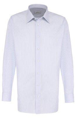 Хлопковая сорочка с воротником кент Brioni RCLU0U/0700L