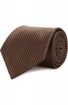 Шелковый галстук с узором Brioni 062I00/0740J