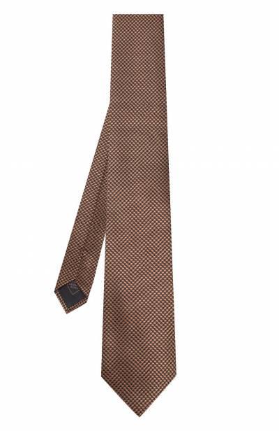 Шелковый галстук с узором Brioni 062I00/0740J - 2