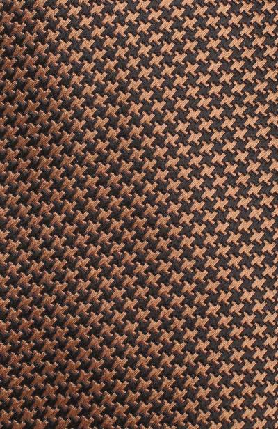 Шелковый галстук с узором Brioni 062I00/0740J - 3