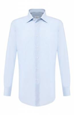 Хлопковая рубашка Brioni RCLU3B/P705Q
