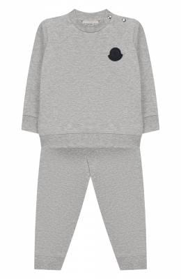 Комплект из хлопкового свитшота и брюк Moncler Enfant E1-951-88125-05-809AC