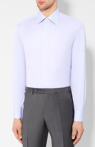 Хлопковая сорочка Brioni RCLU2U/PZ033 - 3