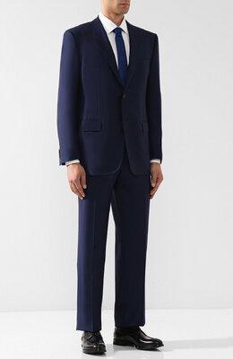 Шерстяной костюм с пиджаком на двух пуговицах Corneliani 827315-8817087/92 Q1