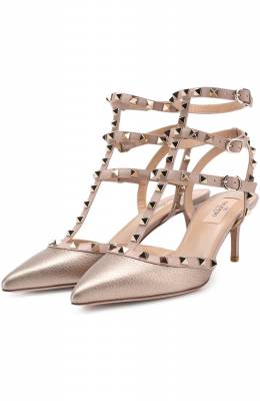 Туфли Valentino Garavani Rockstud из металлизированной кожи с ремешками Valentino NW2S0375/VIW