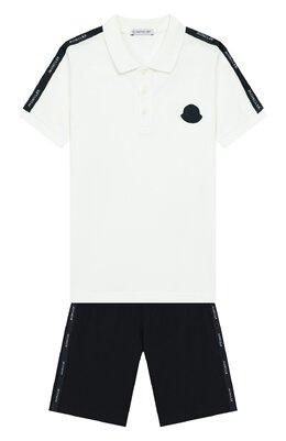Комплект из хлопкового поло и шорт Moncler Enfant E1-954-88129-05-8496W/8-10A
