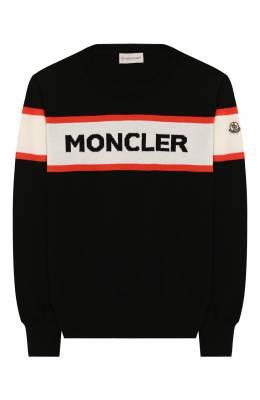 Хлопковый пуловер Moncler Enfant E1-954-90068-05-V9019/12-14A