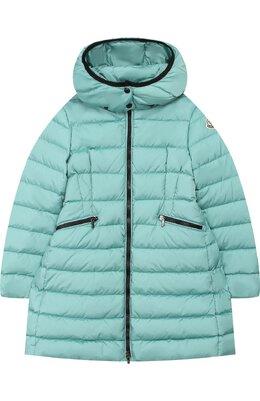Пуховое пальто на молнии с капюшоном Moncler Enfant D2-954-49906-05-54155/8-10A
