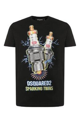 Хлопковая футболка Dsquared2 S74GD0638/S22427