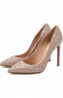 Кожаные туфли Valentino Garavani Rockstud Spike Valentino QW2S0H88/NSN