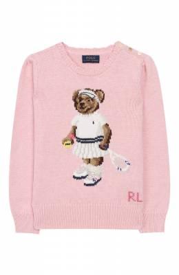 Хлопковый пуловер Polo Ralph Lauren 311736717