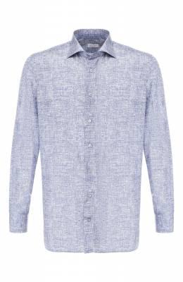 Рубашка из смеси шелка и хлопка Zilli MFR-84080-MERCU/RZ02