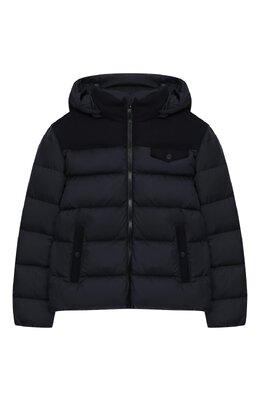 Комбинированная куртка с капюшоном Herno PI0022B/39601/10A-14A