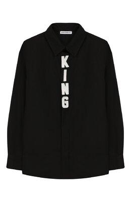 Хлопковая рубашка Dolce&Gabbana L42S95/G7SR0/8-14