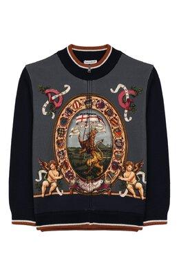 Кардиган из смеси шерсти и хлопка Dolce&Gabbana L4KW43/JAVQA/8-14