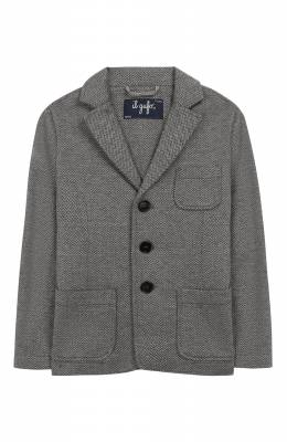 Хлопковый пиджак Il Gufo A19BF011M5031/2А-4А