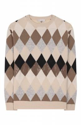 Пуловер из шерсти и кашемира Brunello Cucinelli B16181520B