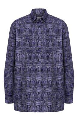 Хлопковая рубашка с воротником кент Zilli MFQ-10902-46103/RZ01