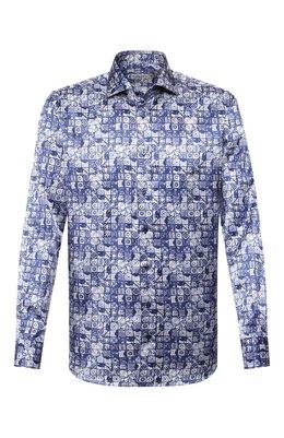 Рубашка из смеси хлопка и шелка Zilli MFR-MERCU-54036/RZ01