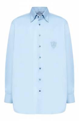 Хлопковая сорочка с воротником кент Zilli MFQ-00202-01417/RE01