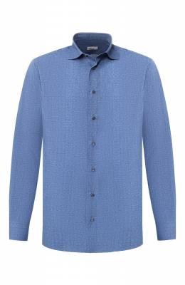 Хлопковая рубашка с воротником кент Zilli MFR-54035-MERCU/RZ02
