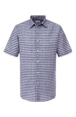 Рубашка из смеси льна и хлопка Brioni SCAN0L/P8114