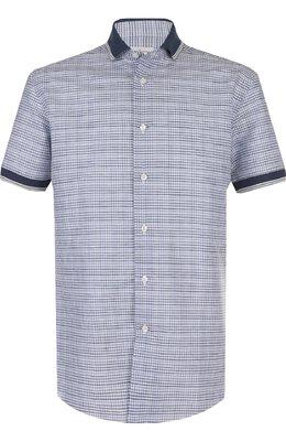 Рубашка из смеси льна и хлопка Brioni SC320V/P7128