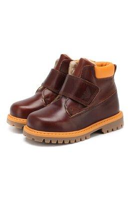 Утепленные ботинки из кожи Emporio Armani XMN002/X0I24