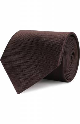 Однотонный шелковый галстук Brioni 062I00/07455