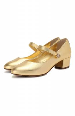 Кожаные туфли Dolce&Gabbana D10840/A6C66/29-36
