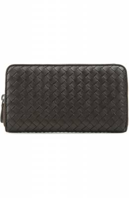 Кожаный кошелек на молнии с плетением intrecciato Bottega Veneta 275064/V001N