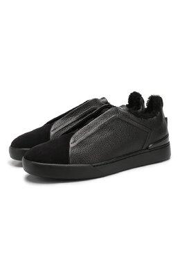 Кожаные кеды Zegna Couture A4362X-LHABL