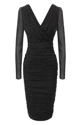 Шелковое платье Dolce&Gabbana F6H6BT/FSASB