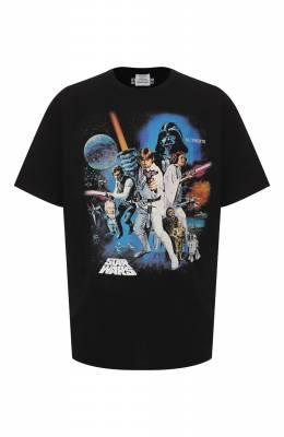 Хлопковая футболка Star Wars x Vetements Vetements USW21TS006 1600/M