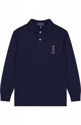 Хлопковое поло с длинными рукавами Polo Ralph Lauren 323714483