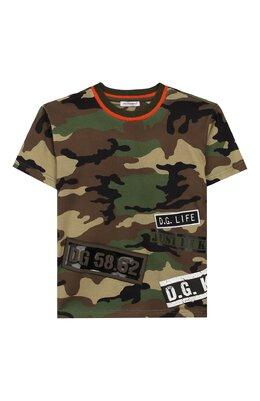 Хлопковая футболка Dolce&Gabbana L4JT7N/G7RZK/2-6
