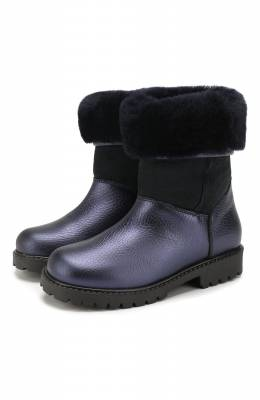 Кожаные сапоги Gallucci J02554AM/TR S S G0M ALM/M0N