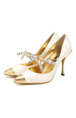 Кожаные туфли Lori Dolce&Gabbana CD1297/AJ543